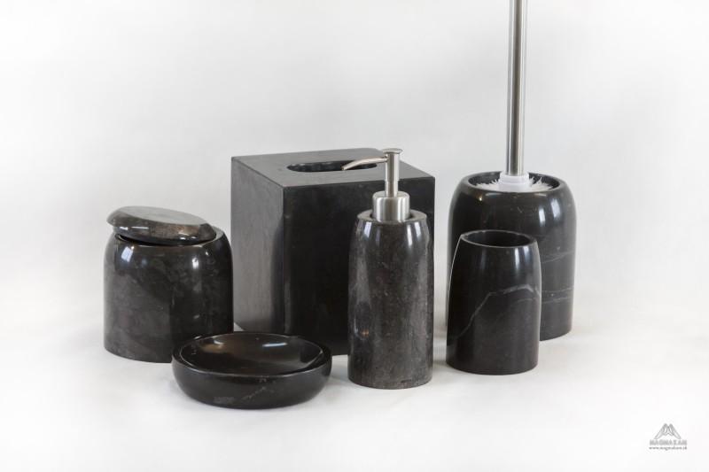 Kamenná kúpeľňová sada CELEBES BLACK