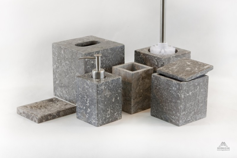 Kamenná kúpeľňová sada RITA GREY