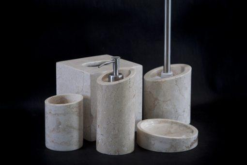 Kamenná kúpeľňová sada LOTUS WHITE