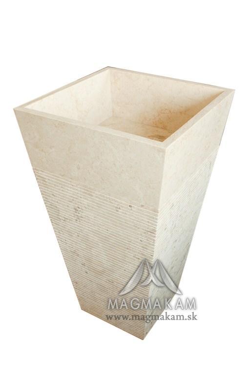 Kamenné umývadlo LUVUS WHITE