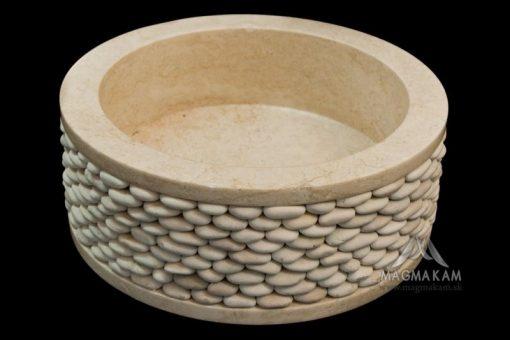 Kamenné umývadlo ROUND WHITE