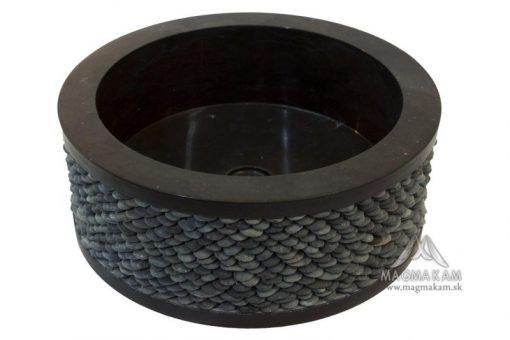 Kamenné umývadlo ROUND BLACK