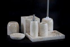 Kamenná kúpeľňová sada CELEBES WHITE