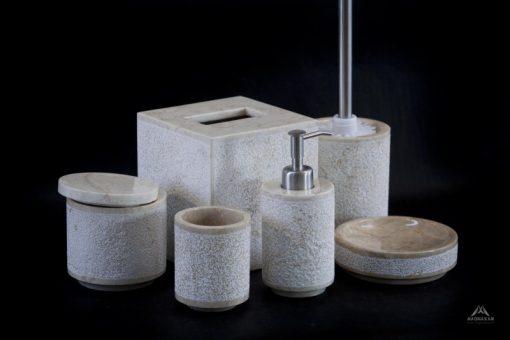 Kamenná kúpeľňová sada LILIAS WHITE