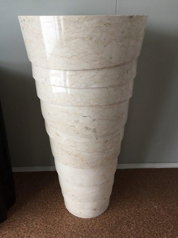 Kamenné umývadlo BATU WHITE 45x45x90