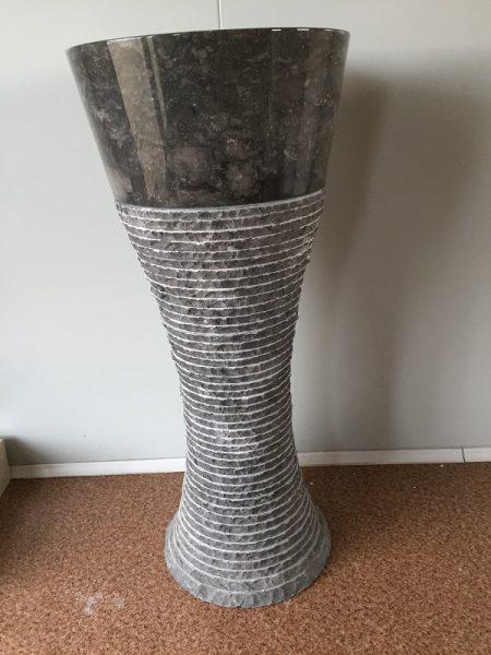 Kamenné umývadlo BUTON DARK GREY 40x40x90