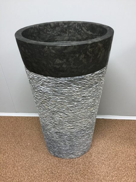 Kamenné umývadlo CELEBES DARK GREY 45x35x90
