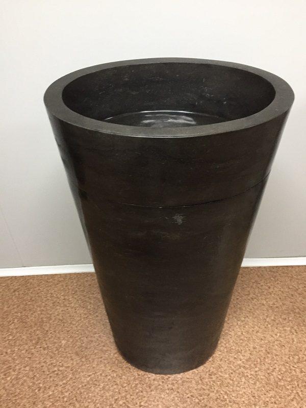 Kamenné umývadlo CELEBES DARK GREY lesklé 45x35x90