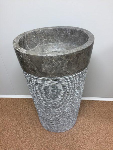 Kamenné umývadlo CELEBES GREY 45x35x90