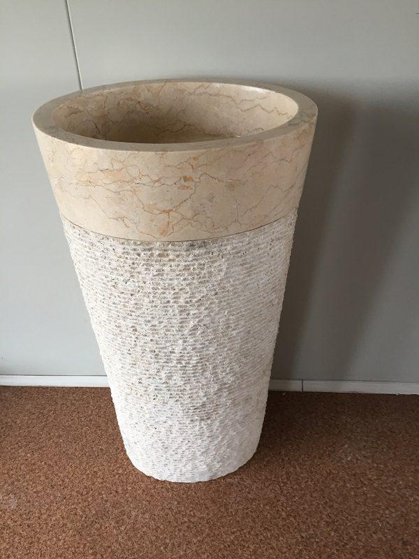 Kamenné umývadlo CELEBES WHITE 45x35x90