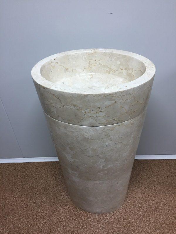 Kamenné umývadlo CELEBES WHITE lesklé 45x35x90