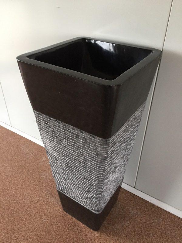 Kamenné umývadlo KEDERI DARK GREY 40x40x90