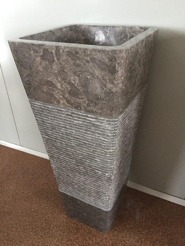 Kamenné umývadlo KEDERI GREY 40x40x90