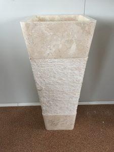 Kamenné umývadlo KEDERI WHITE 40x40x90