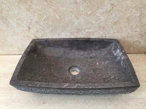 Kamenné umývadlo LILIAS Dark Grey 50x35x12