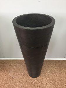 Kamenné umývadlo TUKAD DARK GREY lesklé 40x40x90