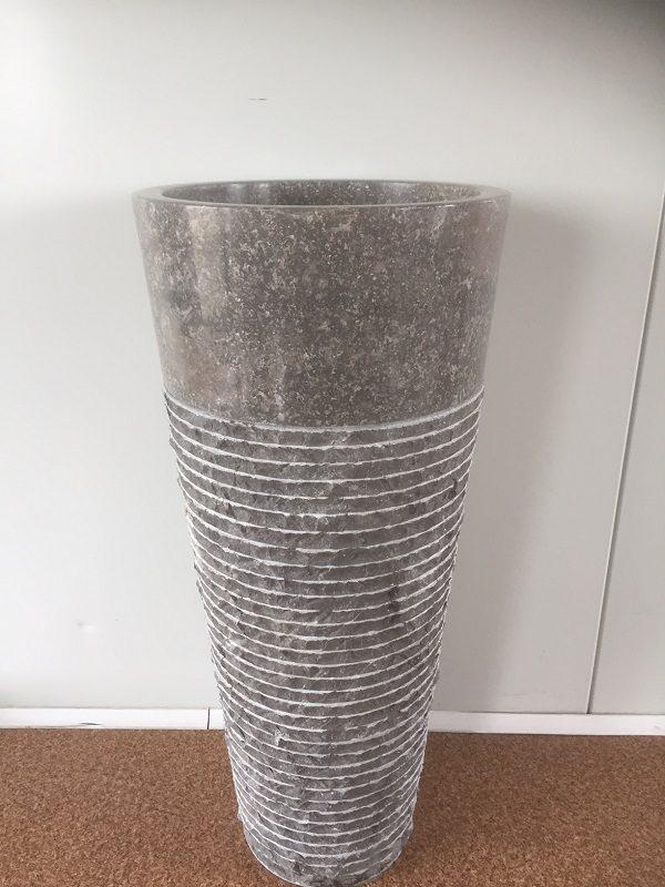 Kamenné umývadlo TUKAD GREY 40x40x90