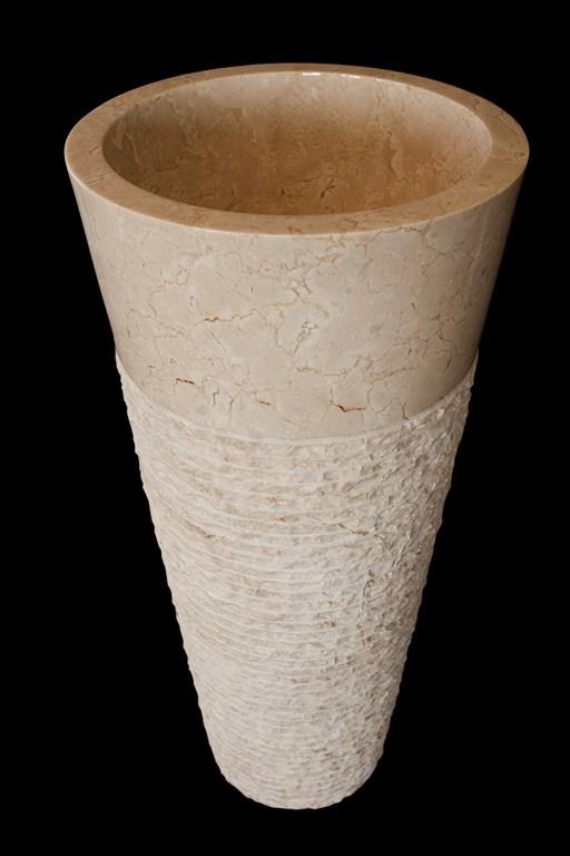 Kamenné umývadlo TUKAD WHITE 40x40x90