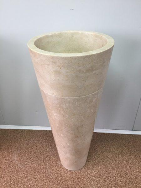Kamenné umývadlo TUKAD WHITE lesklé 40x40x90