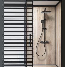 Sprcha CS čierna matná termostatická