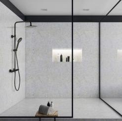 Sprcha DY čierna matná termostatická