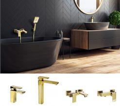 Kúpeľňová séria LT zlatá/čierna/chrom