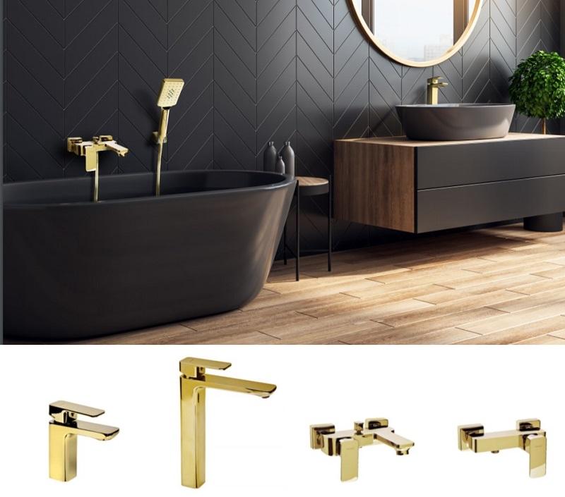 Kúpeľňová séria LT zlatá/čierna