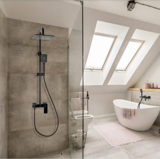Sprcha LT čierna matná